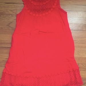 Summer red-orange mini dress